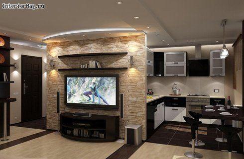 Дизайн кухни-гостиной в хрущевке Дизайн Pinterest Loft ideas