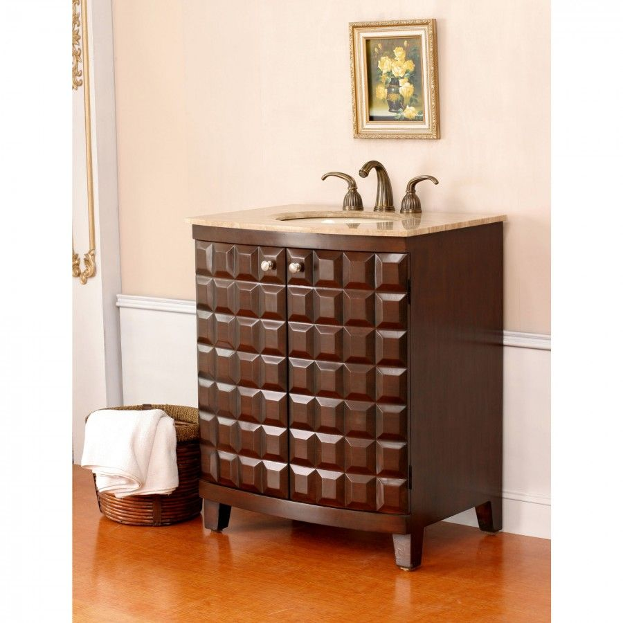 "Virtu Florence Single 305"" Bathroom Vanity In Antique Cherry  Ls Beauteous Cherry Bathroom Vanity Decorating Design"