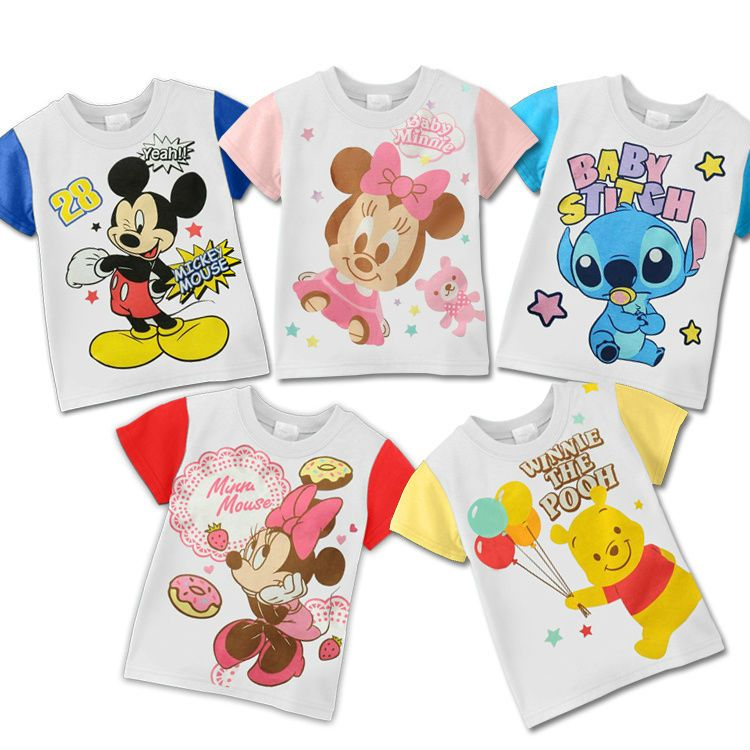 Fashion Child Clothing Boys And Girls Cartoon Design T Shirts Kids