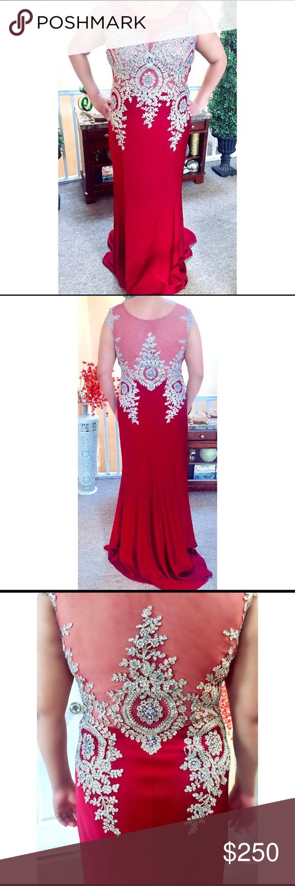 wine red prom dress my posh picks pinterest size