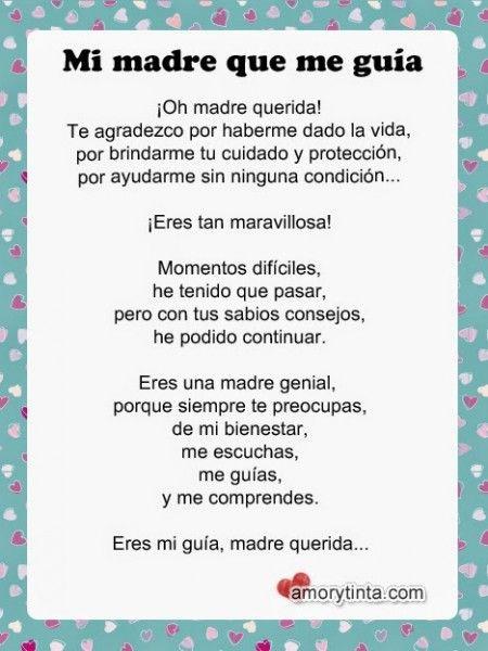 Poemas Canciones Para El Dia De La Madre Para Niños Poema Del Dia De La Madre Dia De Las Madres Poema Del Dia Dia