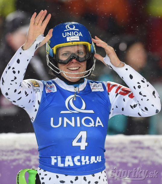 Veronika Velez Zuzulová oslavuje svoje víťazstvo