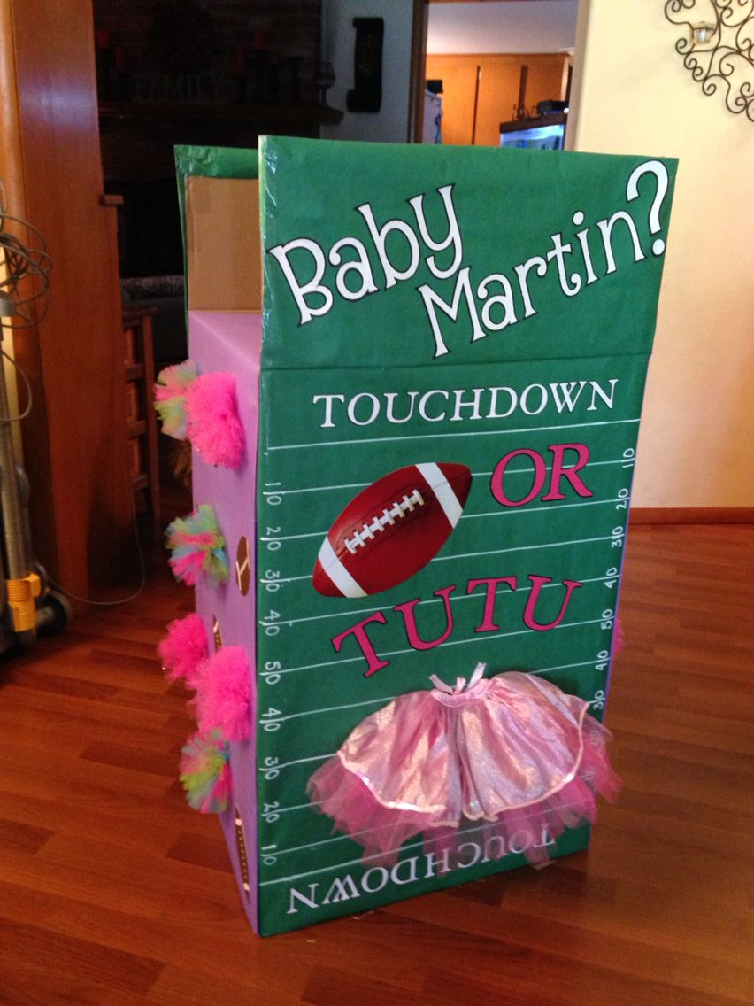Touchdown Or Tutu Box Tutus Gender Reveal Gender Reveal Decorations Football Gender Reveal Party