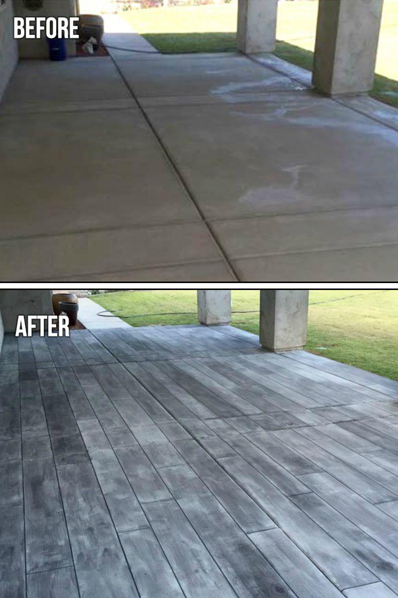 Concrete Wood The Concrete Protector Concrete Patio Makeover Paint Concrete Patio Concrete Stain Patio