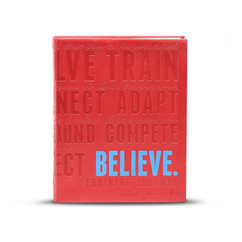 Believe Training Journal Red