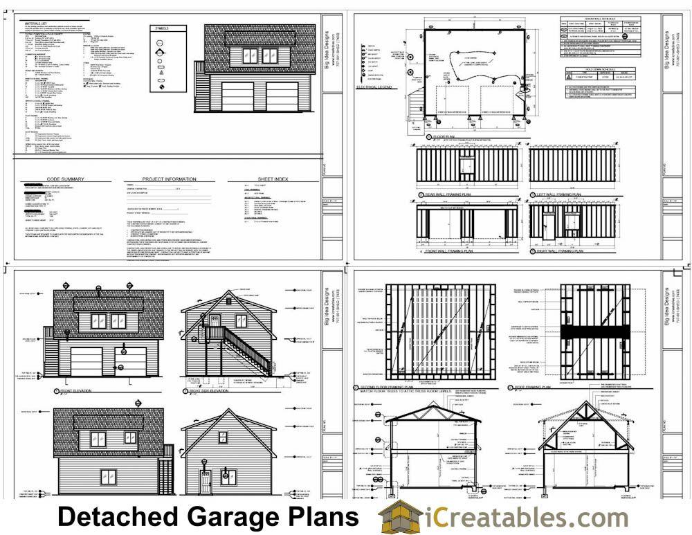 24x28 garage plans