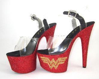 7e79980b5889e Limited Edition Wonder Woman | Pole dancing | Stripper shoes ...
