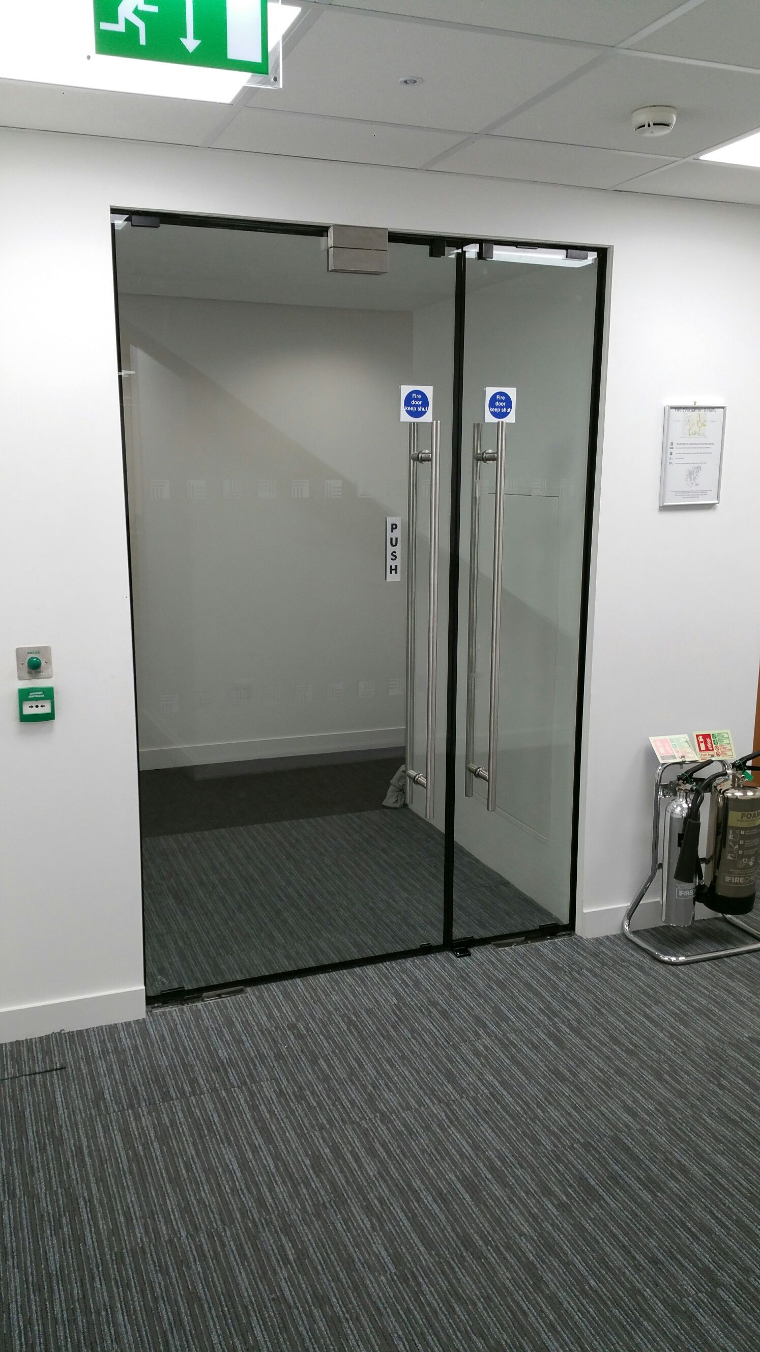 Frameless Fire Rated Glass Doors Offering A Fire Proof Resistance