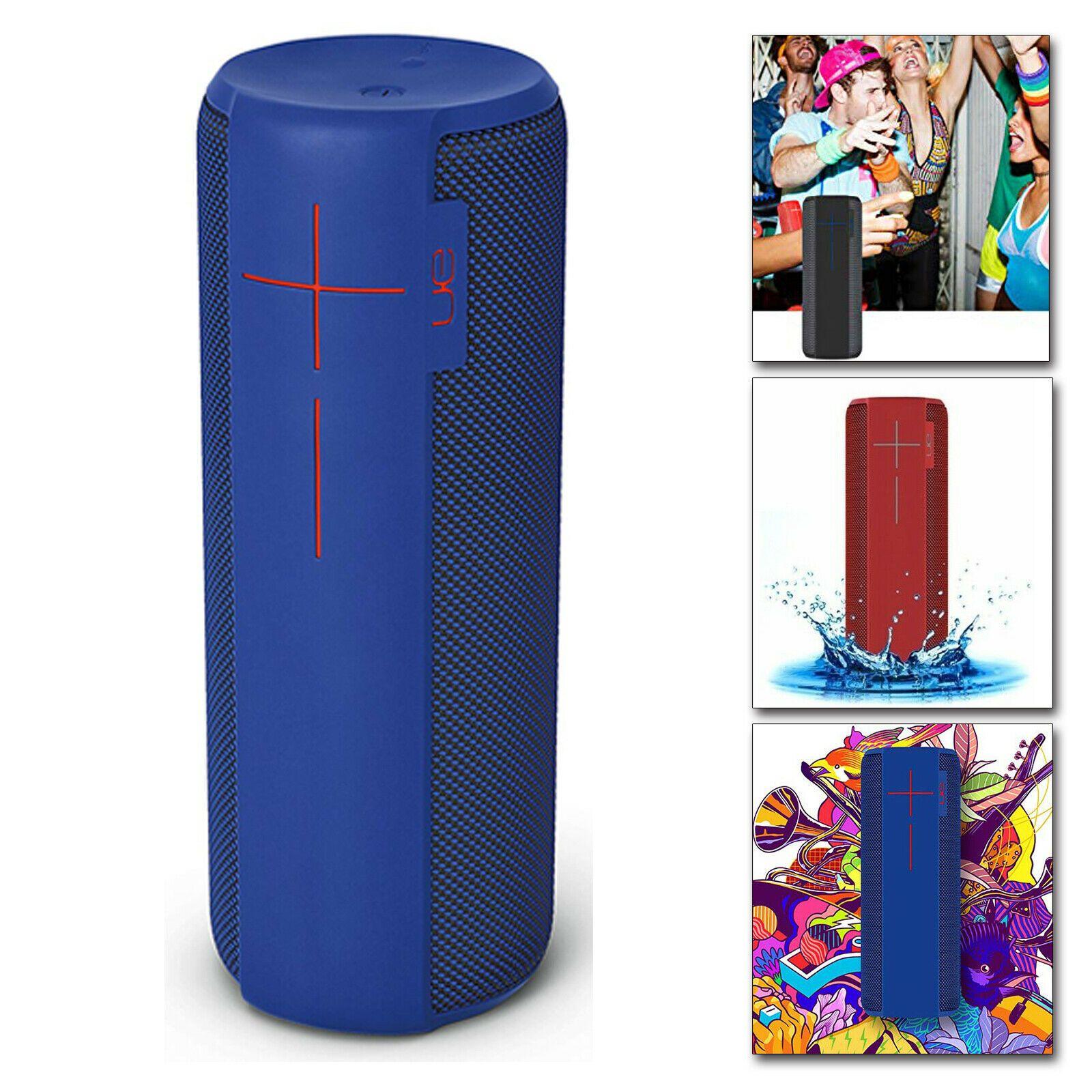 Ue Megaboom Portable Bluetooth Speaker Waterproof Super Bass Black Red Waterproof Bluetooth Speaker Wireless Speakers Bluetooth Bluetooth Speakers Portable