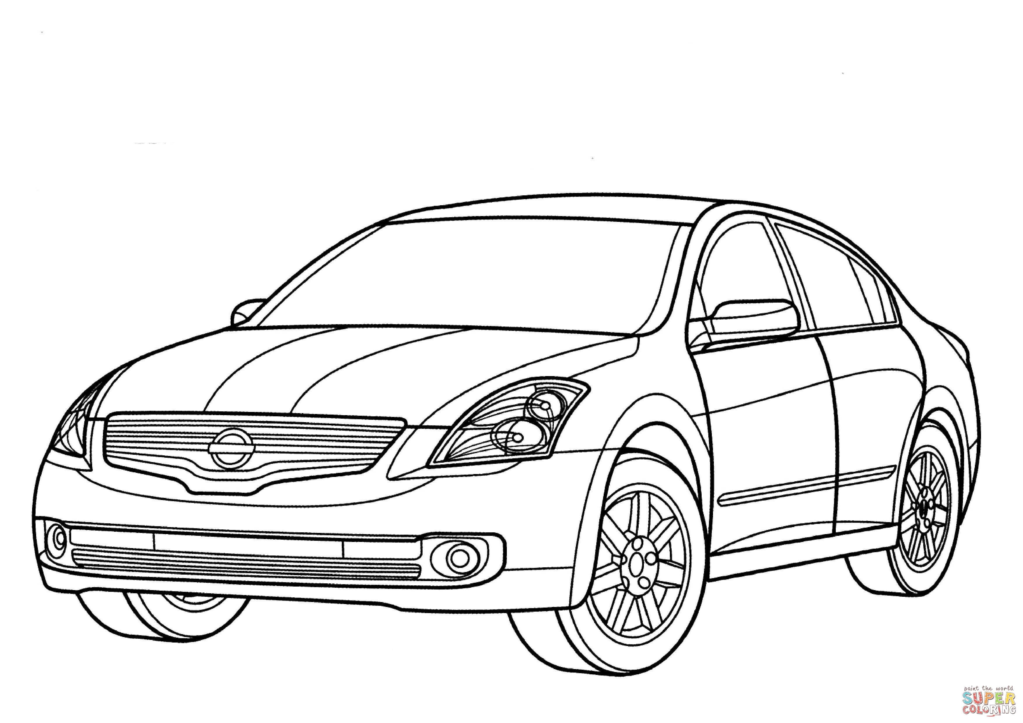 Nissan Altima Hybrid Coloring Page Free Printable