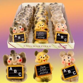 Tipp Marzipanfiguren Lustige Tiere zur Einschulung VE 24