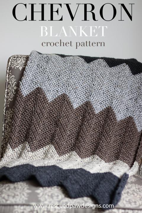 Neutral Chevron Crochet Blanket Pattern | Manta, Ganchillo facil y ...