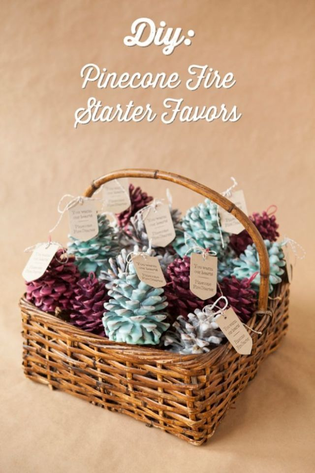 The only problem with making these pinecone fire starters? You'll end up  wanting to keep these beautiful favors for yourself! Get the tutorial at  Something ... - These DIY Christmas Gift Ideas Come Straight From The Heart
