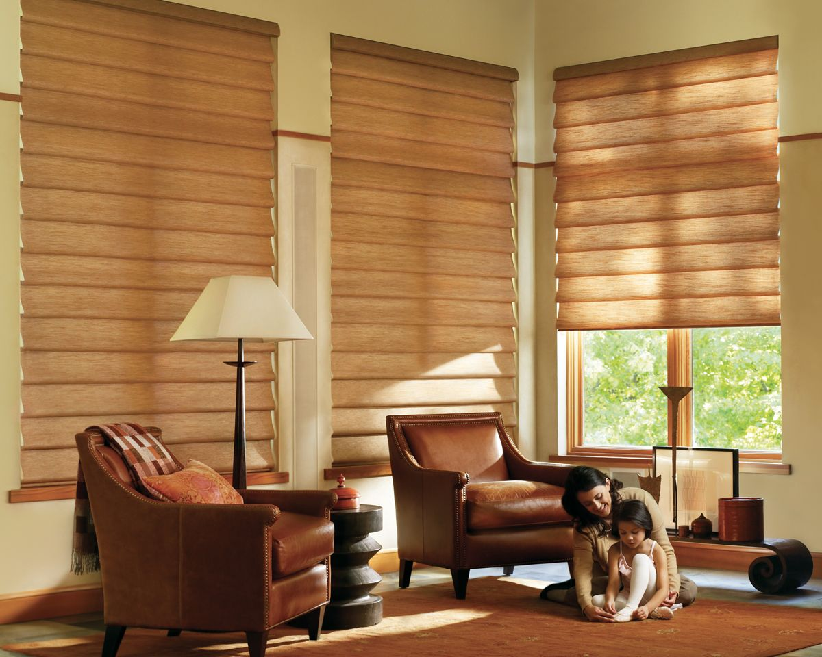 Window Treatments For Living Room Great Plains Blind Factory Hunter Douglas Cellular Shades