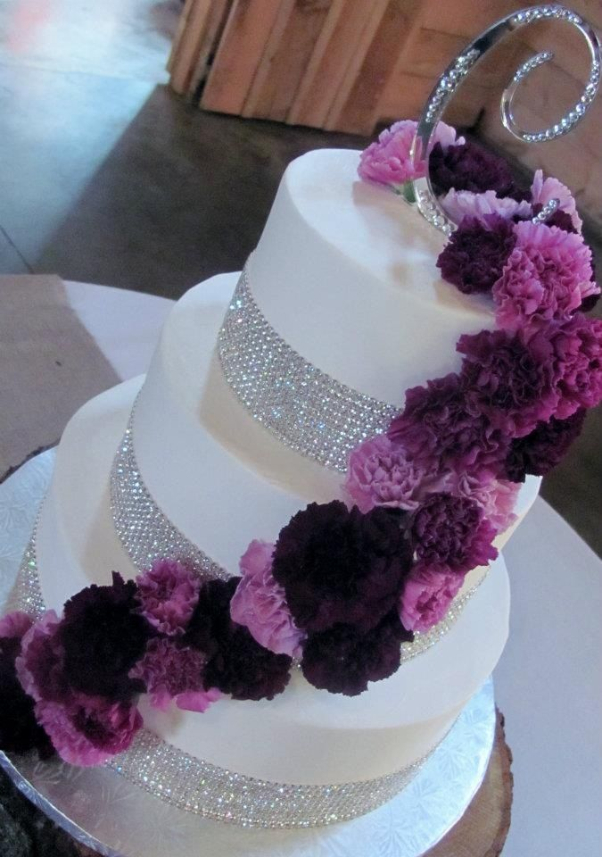 This Is Blingy It Even Has Our C Wedding Cake Carnations