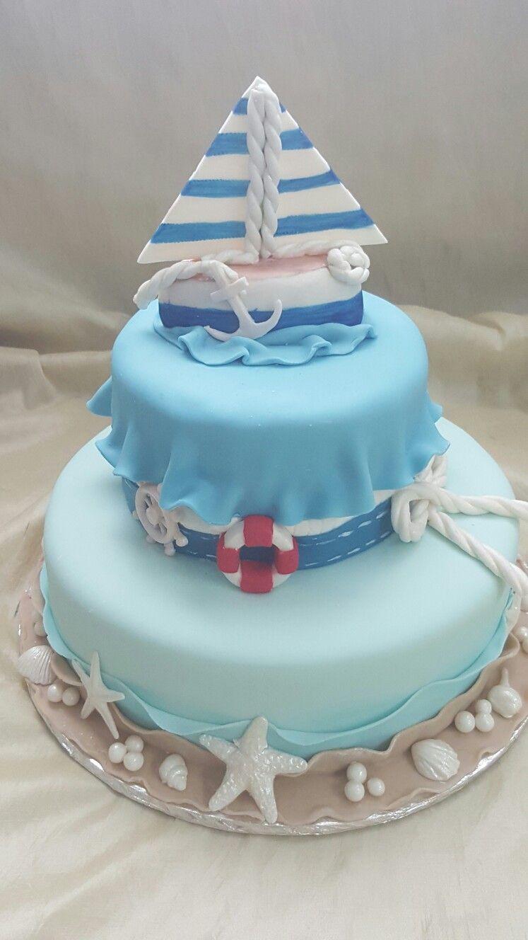 The Cakebox Bahamas Nautical themed fondant finished birthday cake