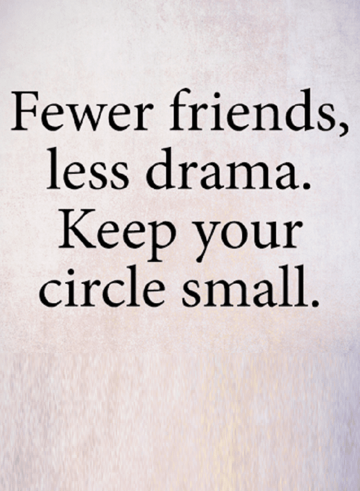 Quotes The Smaller You Keep Your Circle Less Problems Deal With