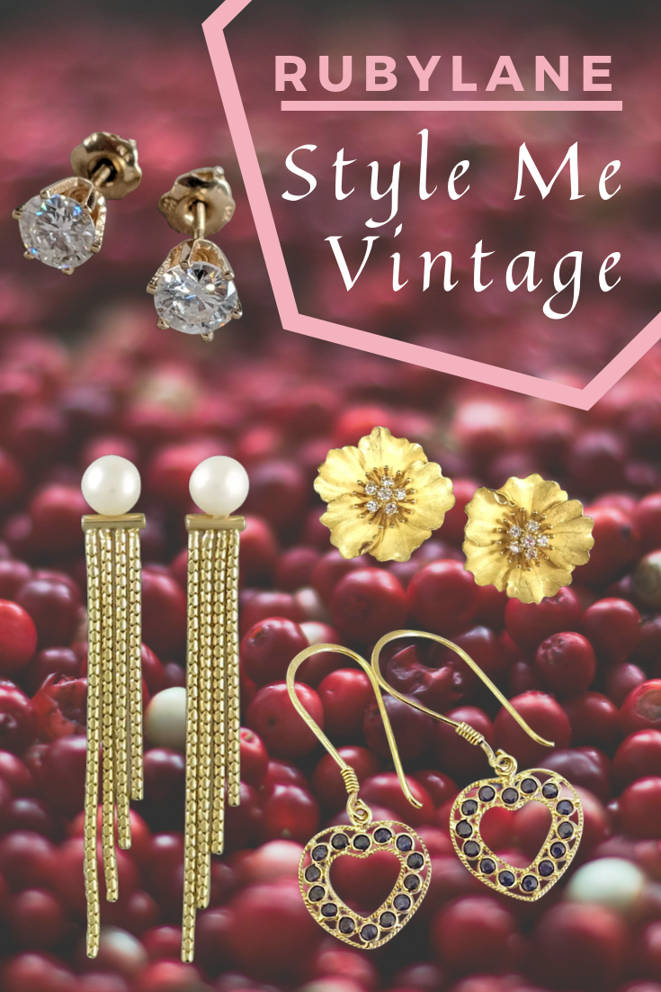 Ruby Lane Jewelry : jewelry, Vintage, Jewelry, Inspired, Earrings,, Diamond, Earrings, Timeless