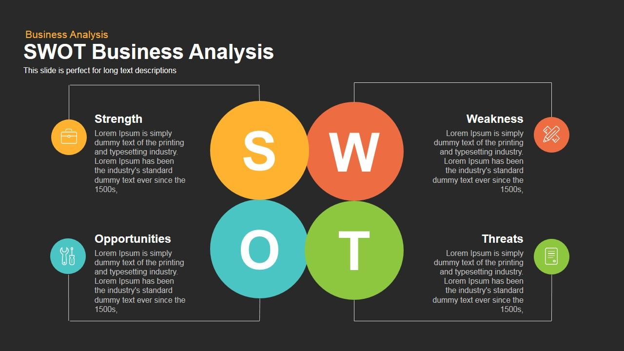 Swot Business Analysis Powerpoint And Keynote Template Which Is