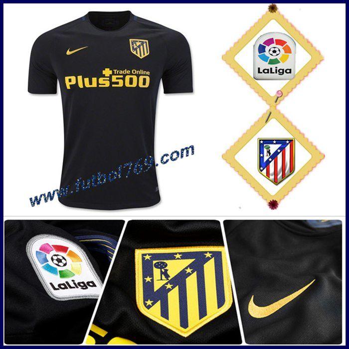 3752ec5388b15 La Camiseta Del Atletico De Madrid Alternativo Negro 2016 2017  Personalizadas