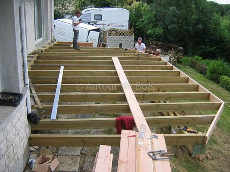 Construction assistée de votre terrasse bois sol ou suspendue à - construction d une terrasse bois