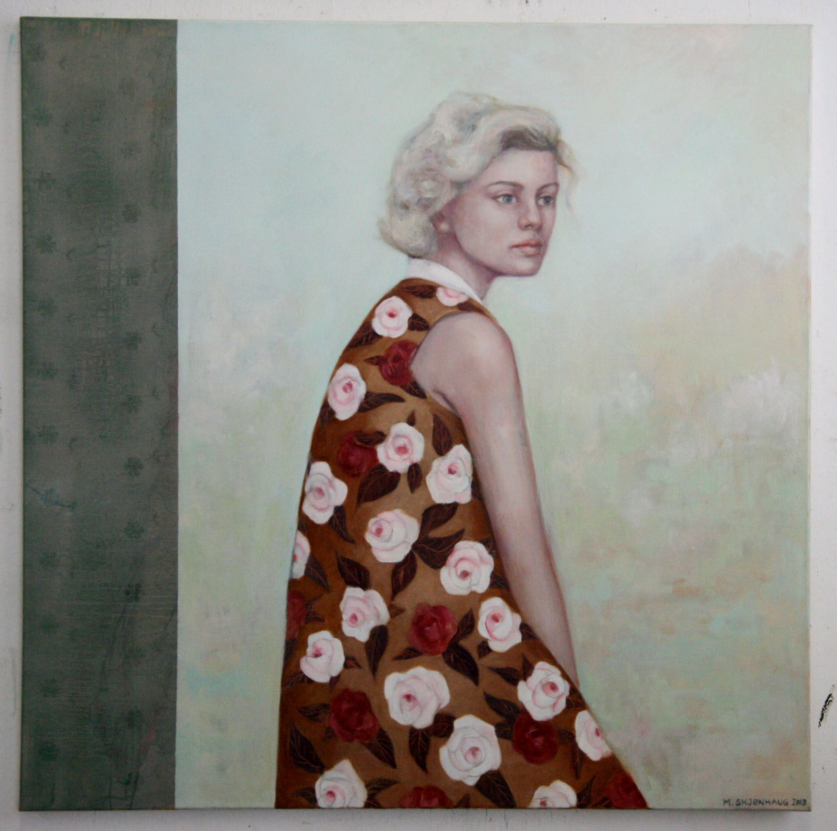 Large oil painting, beautiful on any wall…100x100 cm. Artist: Mona Skjønhaug. Want it? Go to http://artbyhand.no/produkt/billedkunst/mona-skjonhaug/uten-tittel