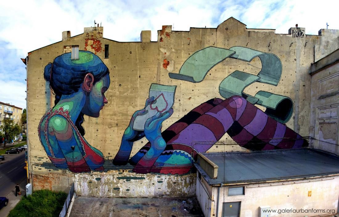 by Aryz, The years with GALERIA URBAN FORMS - In Lodz, Poland