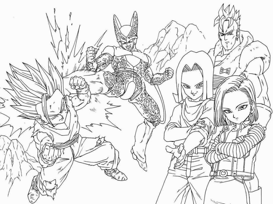 dragon ball z coloring book pdf