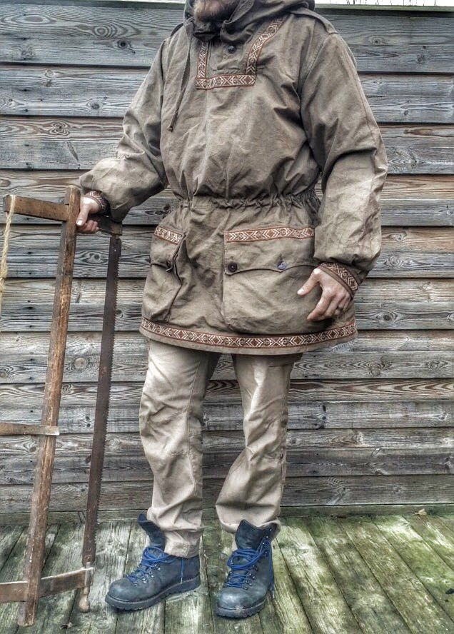 a836ff58284 Anorak. You can buy the white anorak coat and dye it a brown color ...