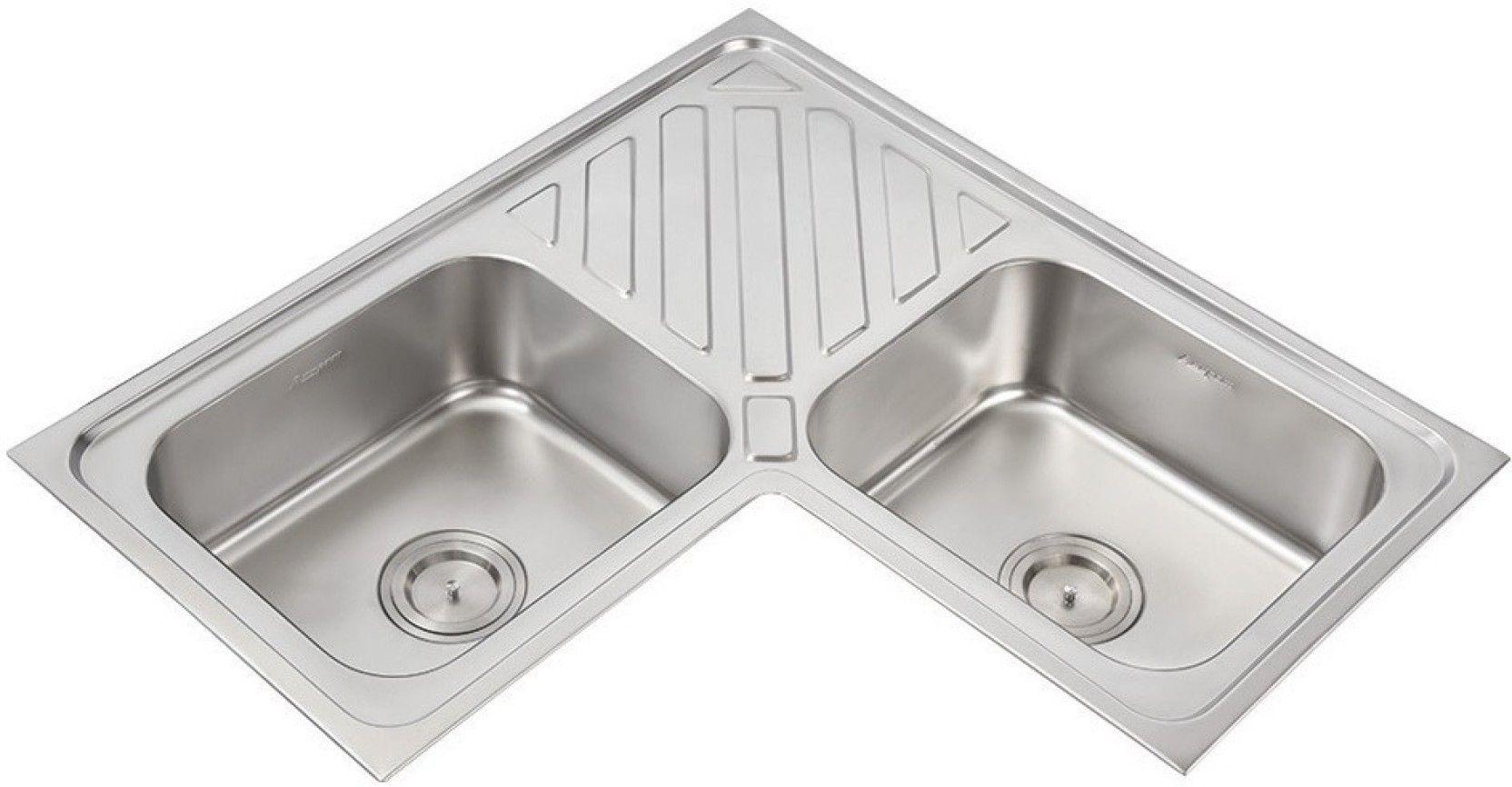 Anupam Luxe Sink Model 307 Corner Basin Price In India Buy Anupam Luxe Sink Model 307 Corner Basin Online At F Corner Basin Sink Stainless Steel Kitchen Sink