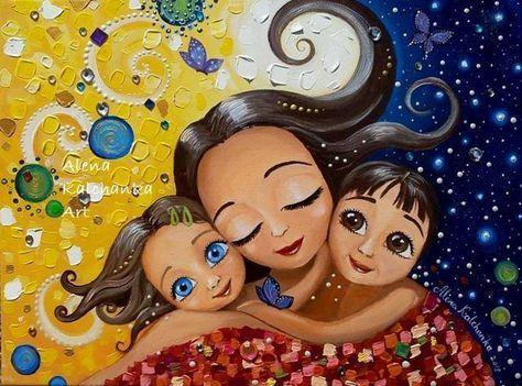 Resultado de imagen de alena kalchanka art | Mother art, Mom art, Mother  daughter art