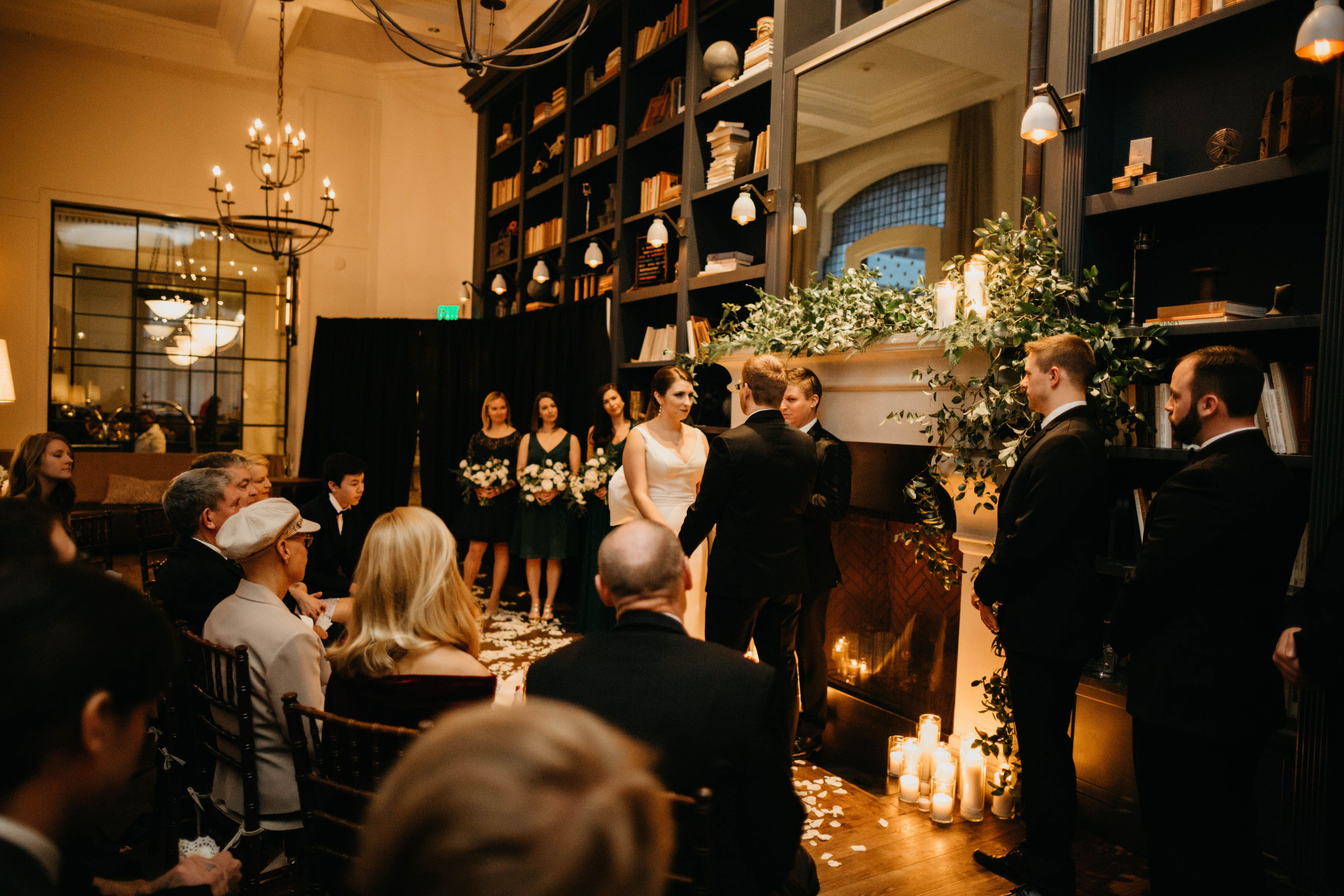 Wedding in The Study at Hotel Teatro Downtown Denver