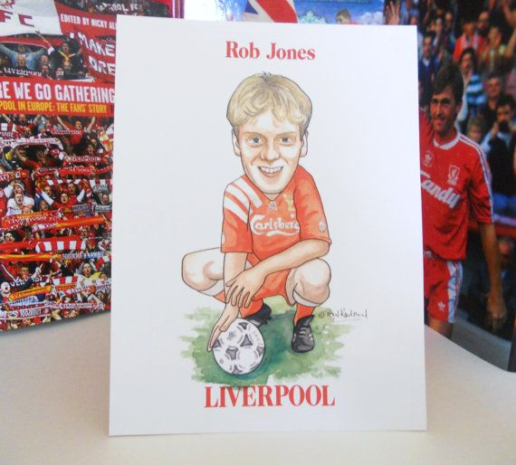 Liverpool FC Rob Jones Limited Edition Print by LFCcollectables