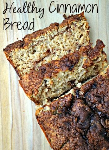 Clean Eating Recipe, healthy Cinnamon Bread is great for breakfast or a snack.