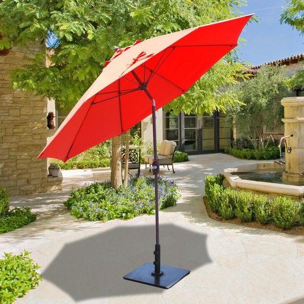 Galtech 9 Ft Aluminum Patio Umbrella With Crank Lift And Manual Tilt  .