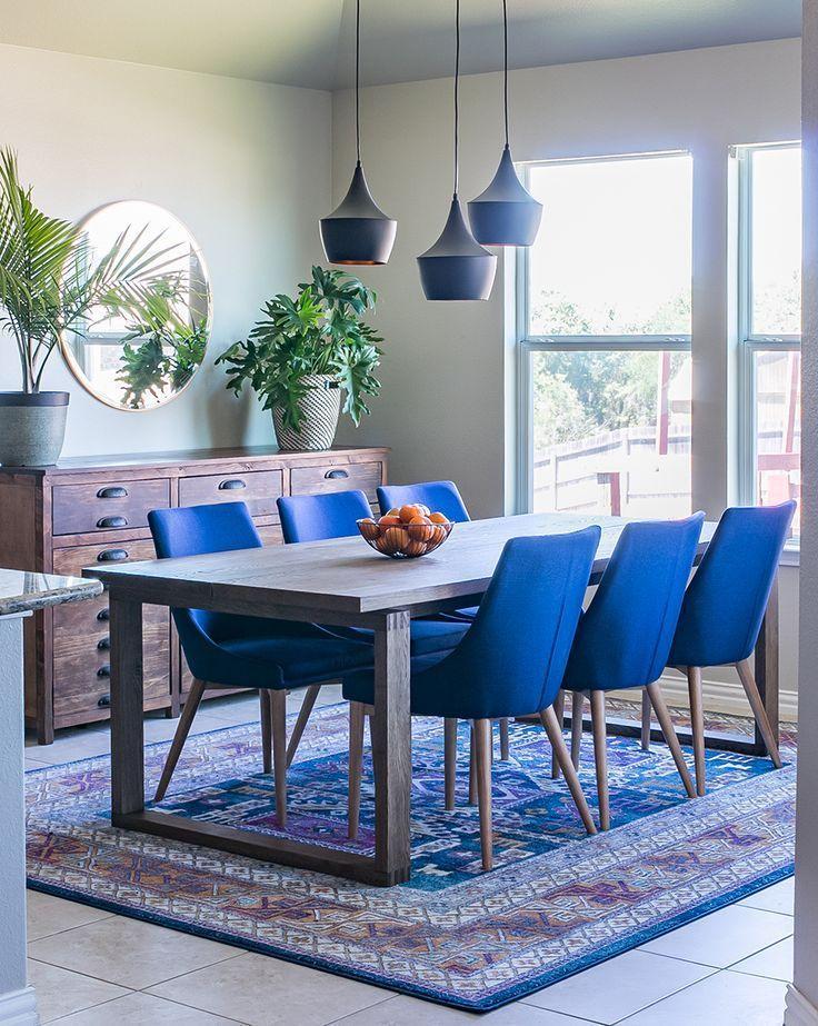 Navy Velvet Dining Chair Dream Place Luxury Dining Room Dining Room Blue Dining Room Design