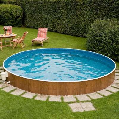 Rundbecken nature wood casas pinterest stahlwandpool for Garten pool holzoptik