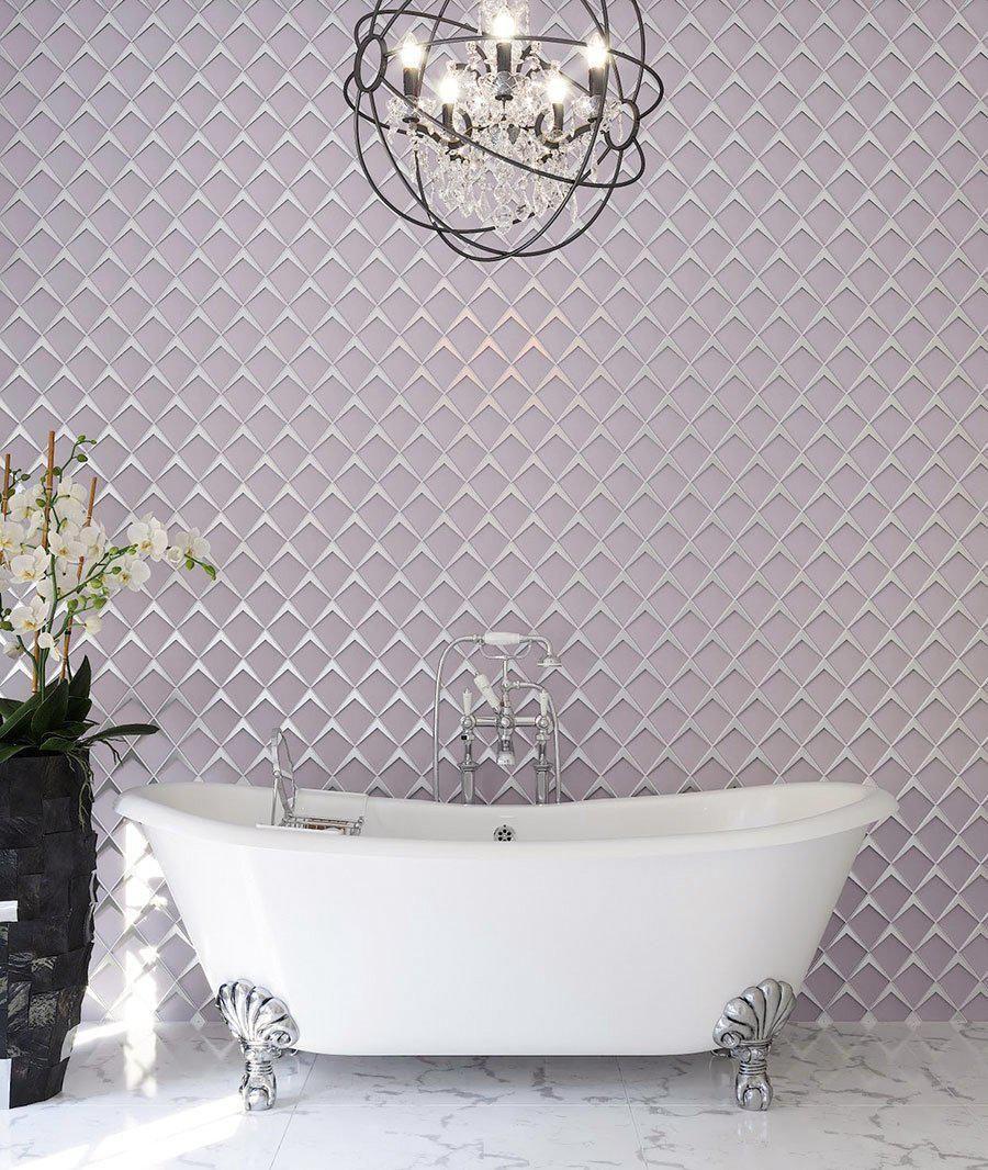 Blush Frost Diamond Glass Mosaic Tile In 2021 Glass Mosaic Tiles Mosaic Glass Glass Tile Backsplash Decorative glass tiles bathroom