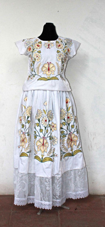 Mexican wedding dress, (TTF6) Traje de novia. Mexican embroidery ...