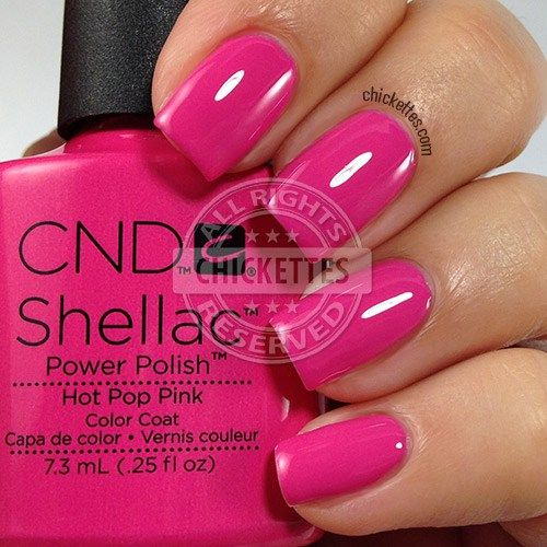 Cnd Shellac Swatch Gallery With Images Pink Shellac Nails