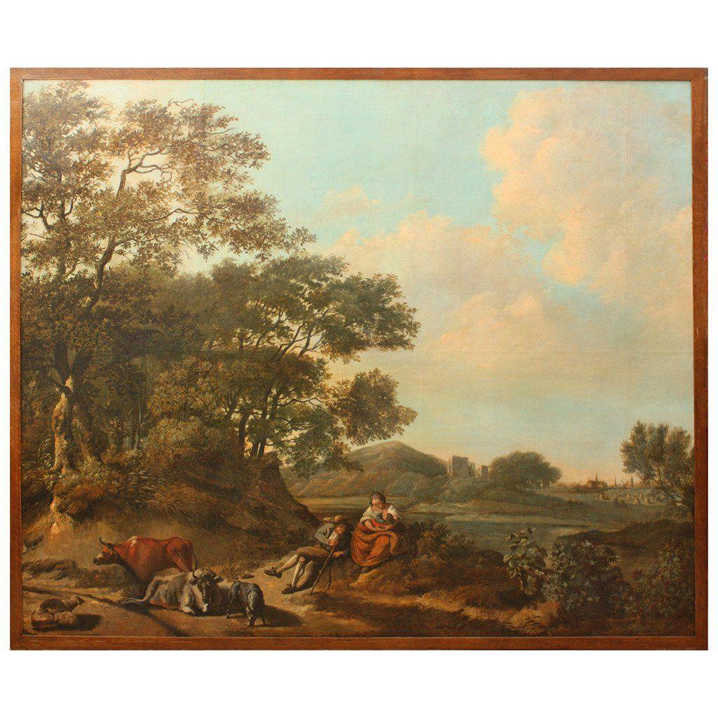 18th Century Dutch Pastoral Landscape from Boston's Ames