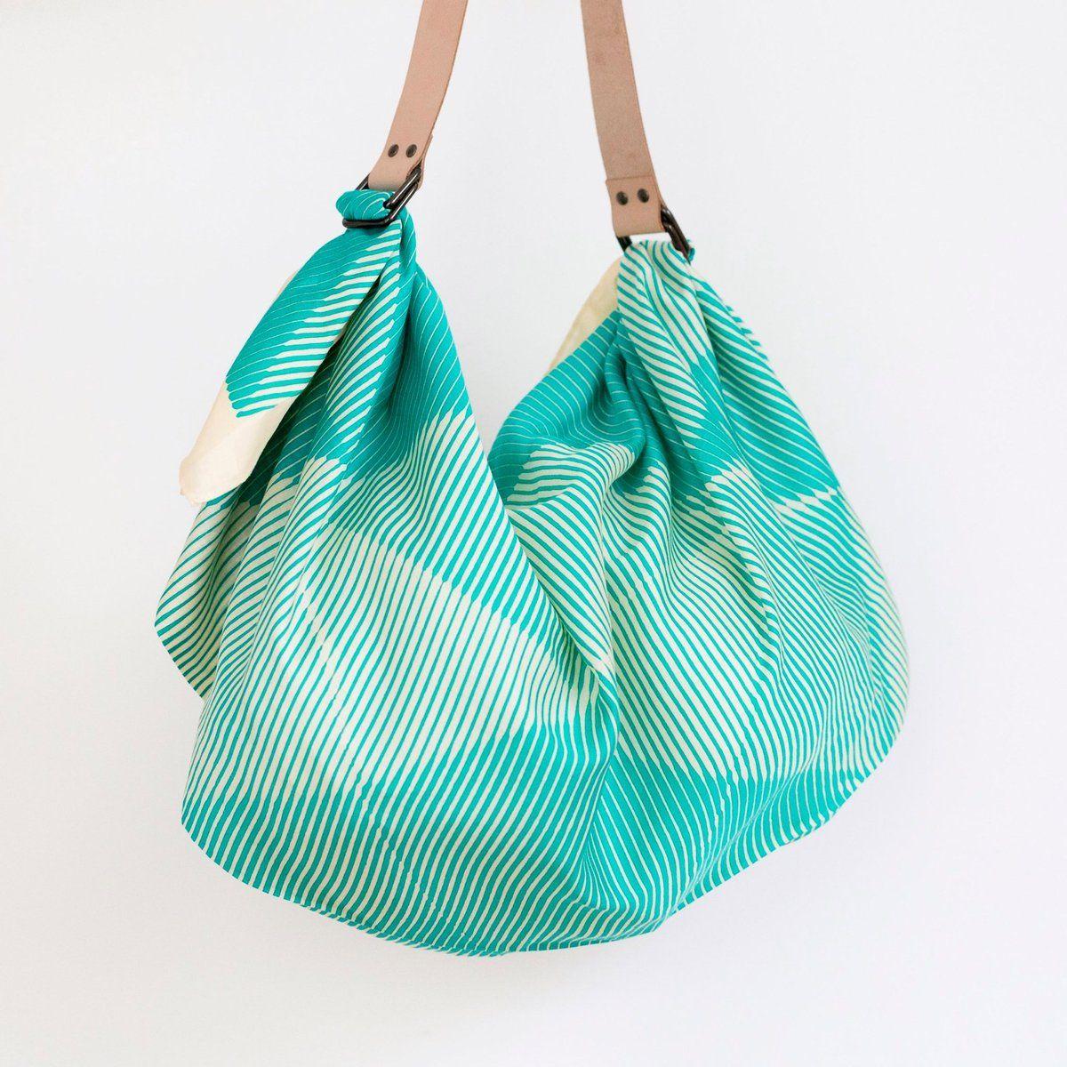 """Folded Paper"" Green Furoshiki Bag Set Furoshiki, Bag"