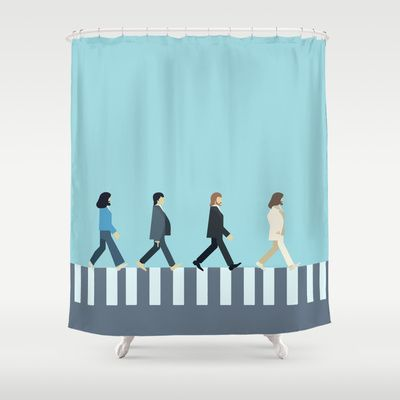 The Beatles Shower Curtain By Victor Trovo Afonso 68 00 Cortinas De Bano Cortinas