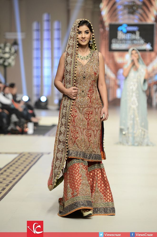 1d70b08acf11 Fozia Hammad Collection at Telenor Bridal Couture Week 2014 - Day 01 ...