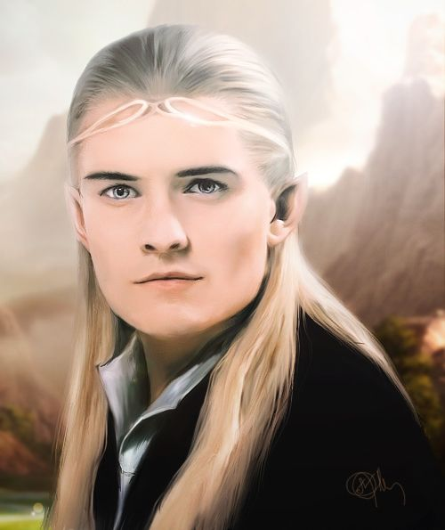 Orlando Bloom Legolos Lord Of The Rings Silver Screen Star