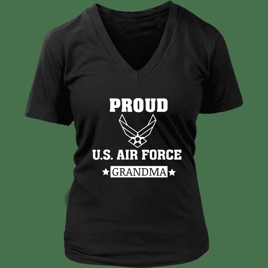 AIR FORCE Grandma Women's VNeck TShirt Shirts, V neck