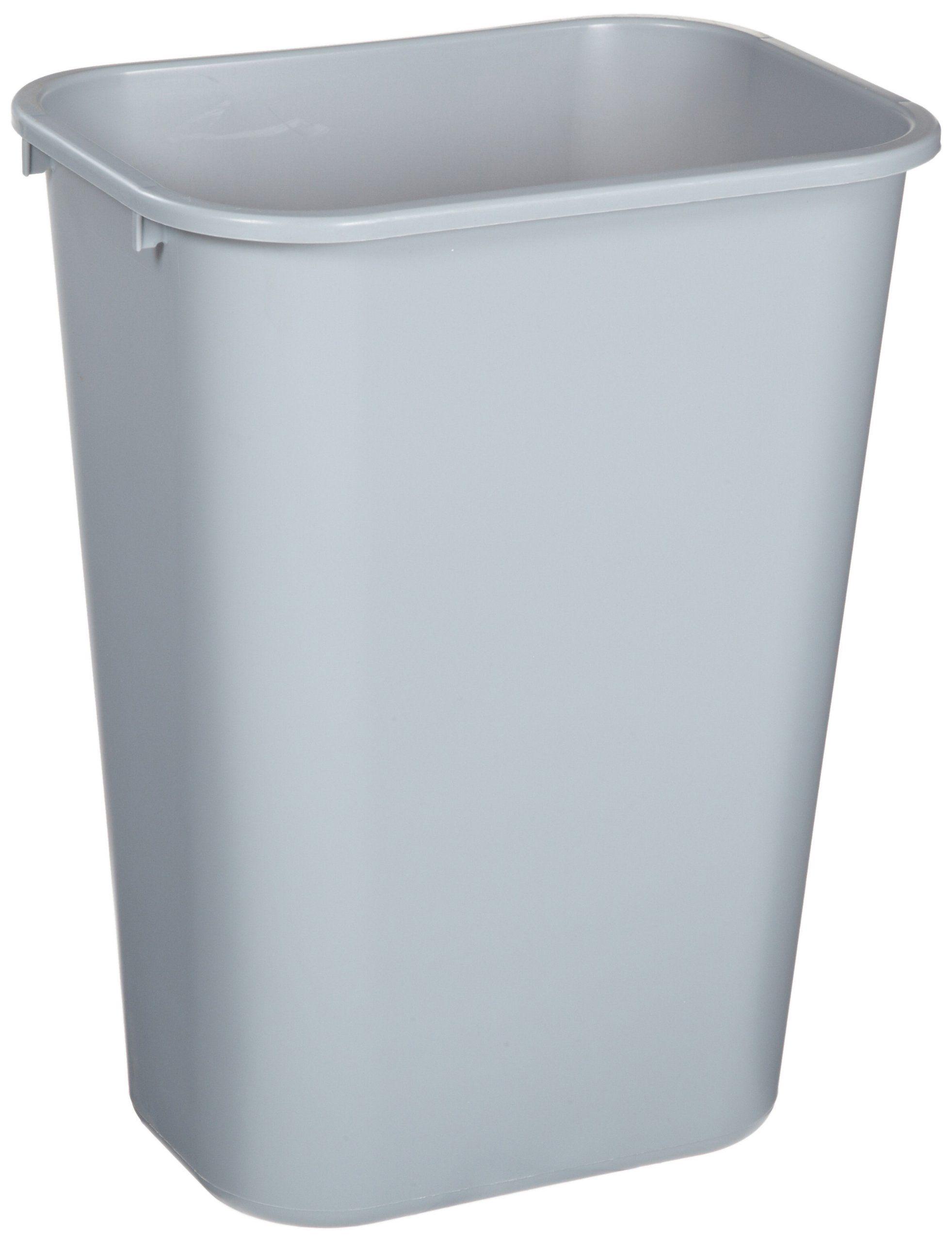 Rubbermaid Soft Molded Plastic Wastebasket Rectangular 10 25