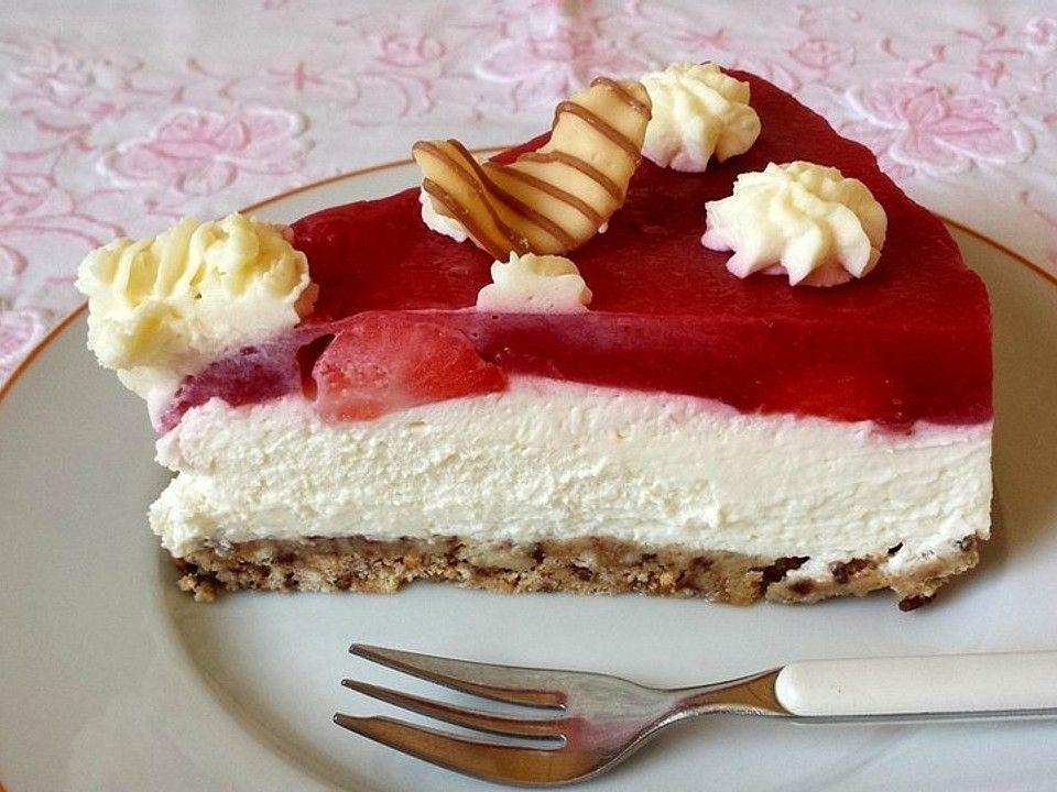 Erdbeer-Frischkäse-Torte von chey2000 | Chefkoch