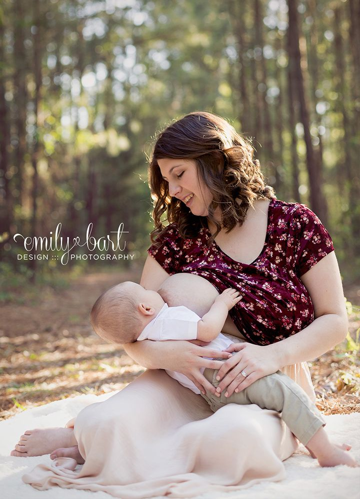 Breastfeeding portrait natural light photography mom and baby