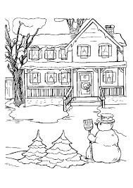 R sultat de recherche d 39 images pour dessin maison village noel noel coloring pages - Village de noel dessin ...
